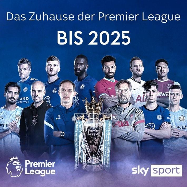 Die Premier League bis 2025 live bei Sky